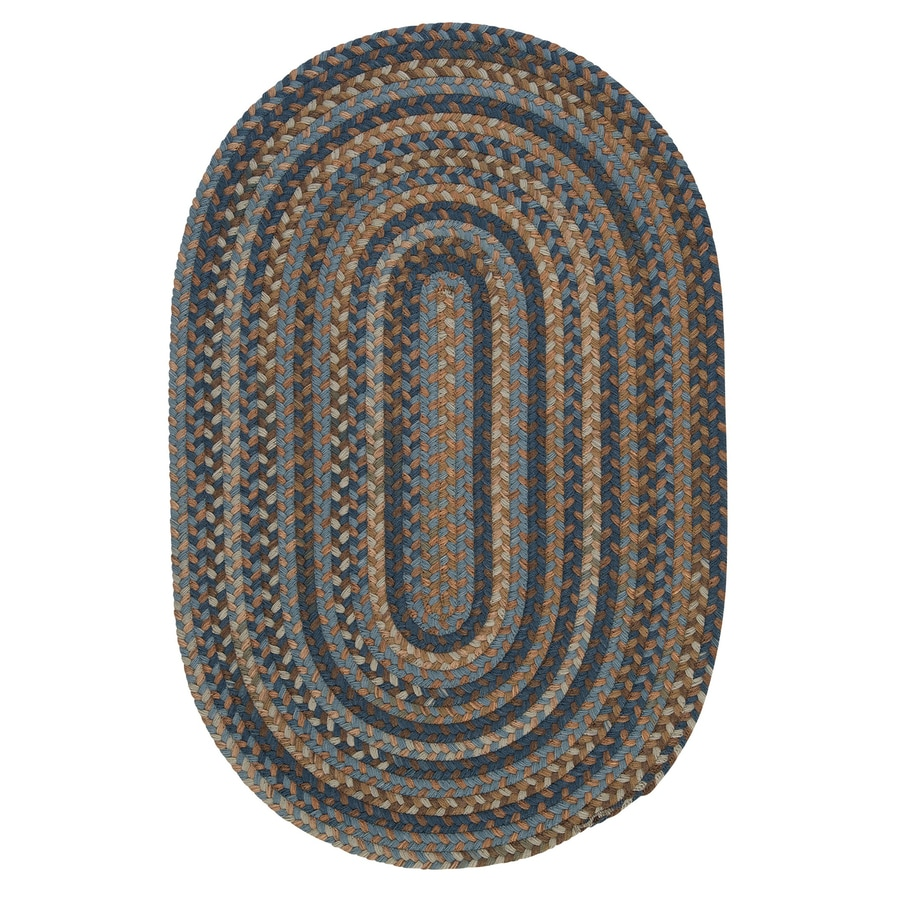 Colonial Mills Oak Harbour Laguna Oval Indoor Braided Area Rug (Common: 7 x 9; Actual: 7-ft W x 9-ft L)