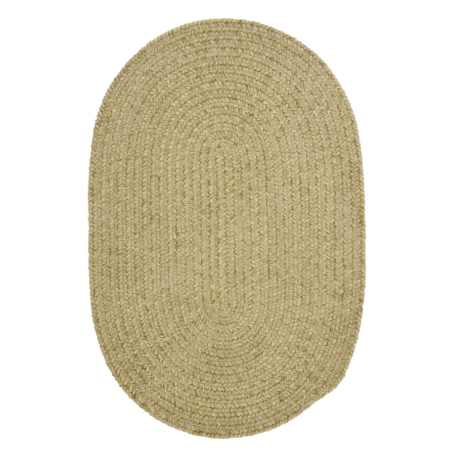 Colonial Mills Spring Meadow Sprout Green Oval Indoor/Outdoor Braided Throw Rug (Common: 2 x 3; Actual: 24-in W x 36-in L)