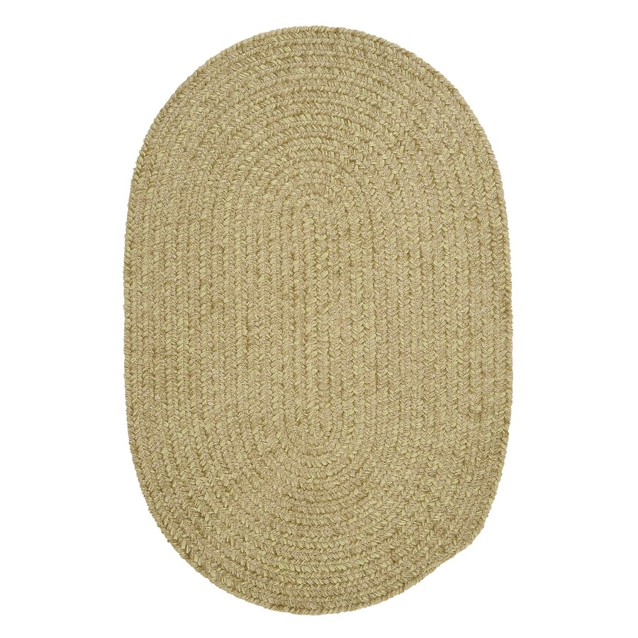 Colonial Mills Spring Meadow Sprout Green Oval Indoor/Outdoor Braided Area Rug (Common: 4 x 6; Actual: 4-ft W x 6-ft L)