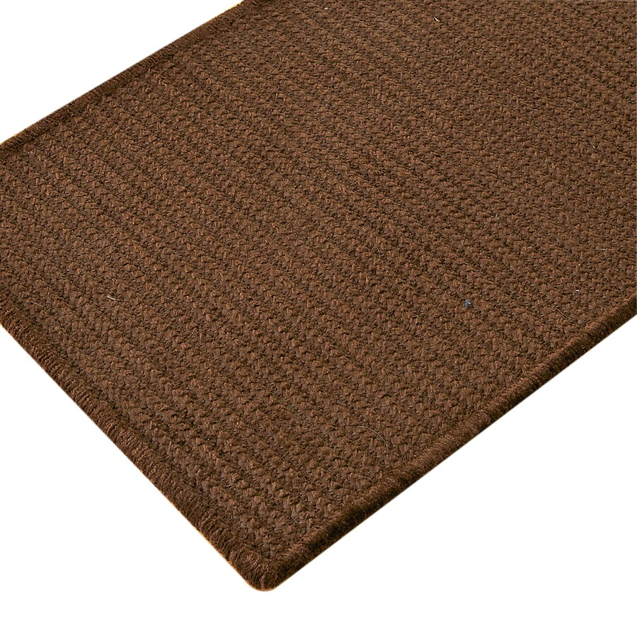 Colonial Mills Solid Chenille Rect 24-in W x 7-ft L Brown Runner