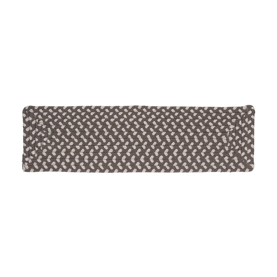 Colonial Mills 8-in x 28-in Tiburon Misted Gray Olefin/Polypropylene Indoor/Outdoor Stair Tread Mat