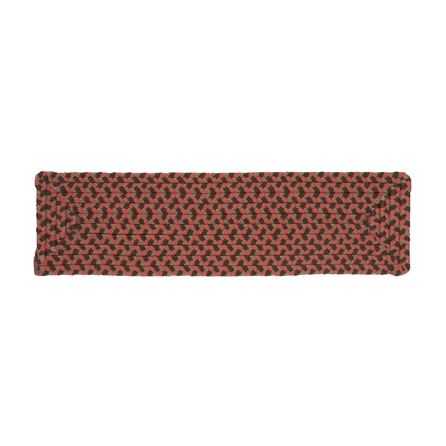 Colonial Mills 8-in x 28-in Tiburon Rusted Rose Olefin/Polypropylene Indoor/Outdoor Stair Tread Mat (Set of 13)