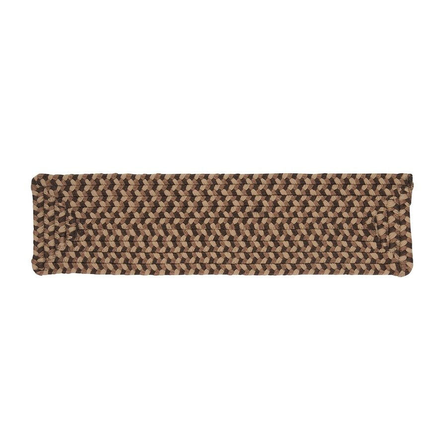 Colonial Mills Brown Rectangular Stair Tread Mat (Common: 1/2-ft x 2-1/4-ft; Actual: 8-in x 28-in)