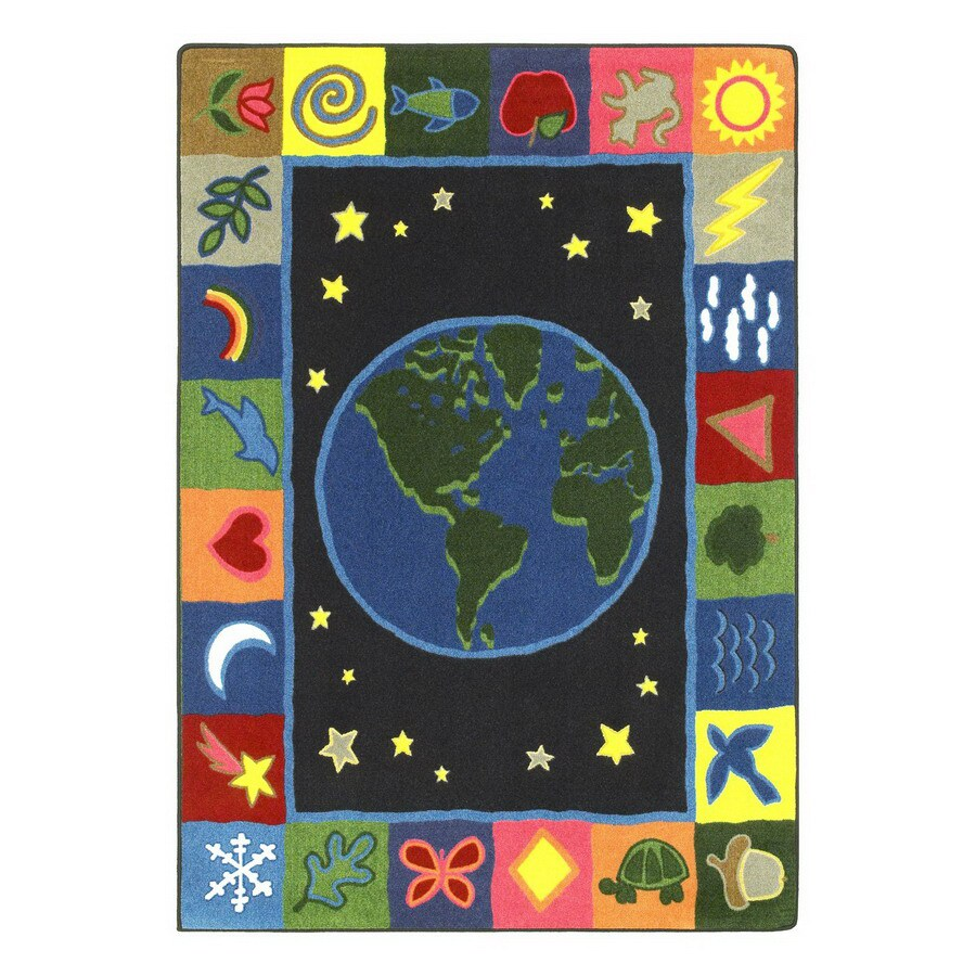 Joy Carpets Earthworks Rectangular Indoor Tufted Kids Area Rug (Common: 5 x 8; Actual: 5.33-ft W x 7.66-ft L)