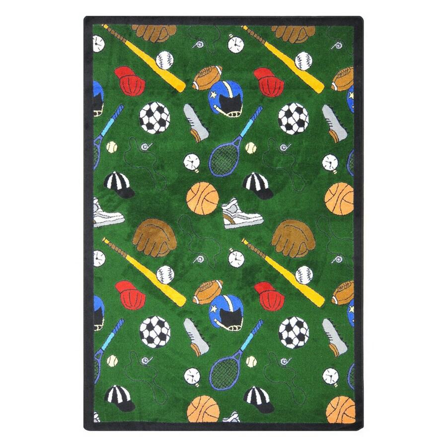 Joy Carpets Multi-Sport 7-ft 8-in x 5-ft 4-in Rectangular Multicolor Sports Area Rug