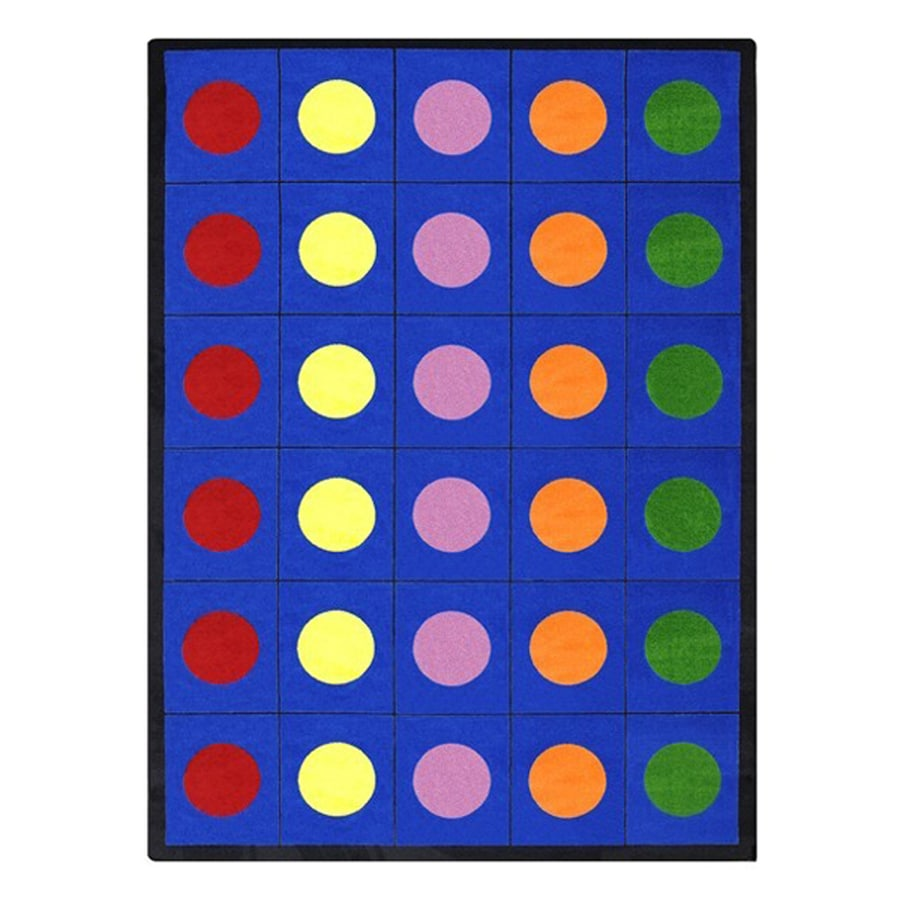 Joy Carpets Lots Of Dots Rectangular Indoor Tufted Educational Area Rug (Common: 8 x 11; Actual: 92-in W x 129-in L)