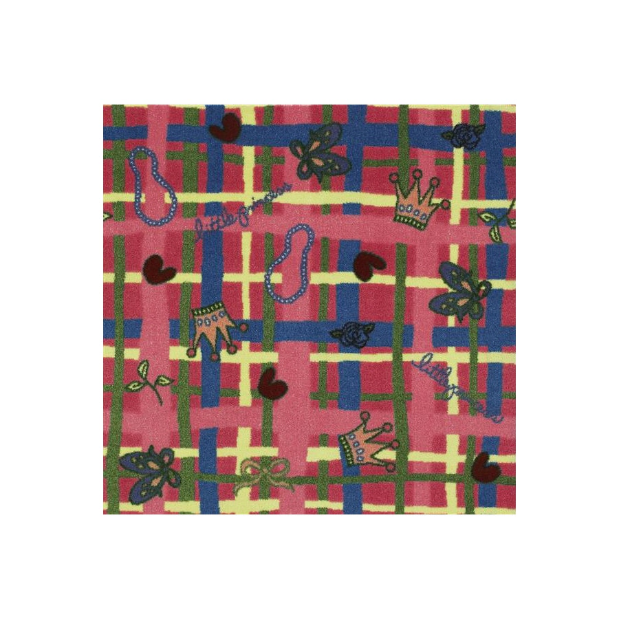 Joy Carpets My Little Princess 5-ft 4-in x 3-ft 10-in Rectangular Multicolor Transitional Area Rug