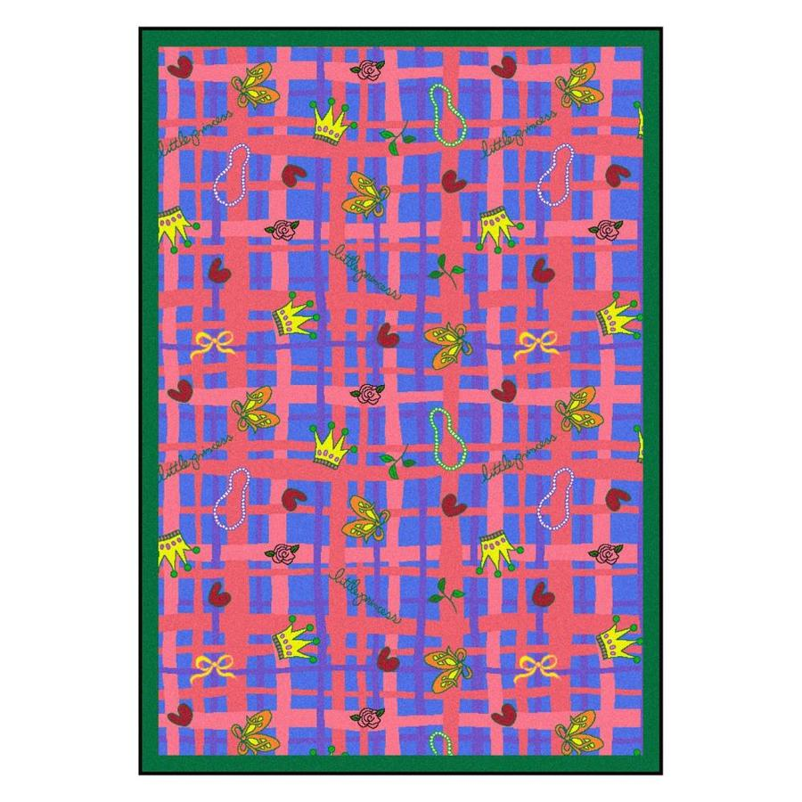 Joy Carpets My Little Princess Rectangular Indoor Tufted Kids Area Rug (Common: 5 x 8; Actual: 64-in W x 92-in L)