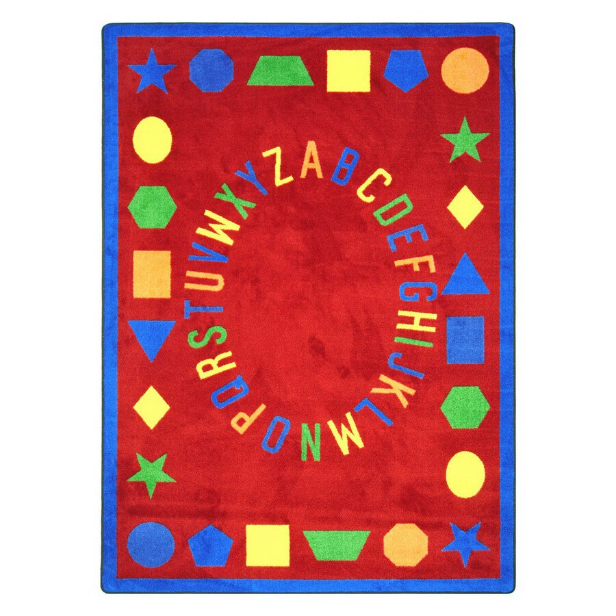 Joy Carpets First Lessons 5-ft 4-in x 3-ft 10-in Rectangular Multicolor Educational Area Rug