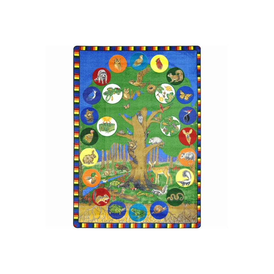 Joy Carpets Tree of Life 11-ft 2-in x 10-ft 9-in Rectangular Multicolor Transitional Area Rug