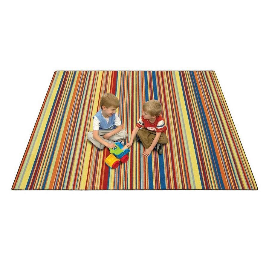 Joy Carpets Latitude Aztec Rectangular Indoor Tufted Kids Area Rug (Common: 5 x 8; Actual: 64-in W x 92-in L)