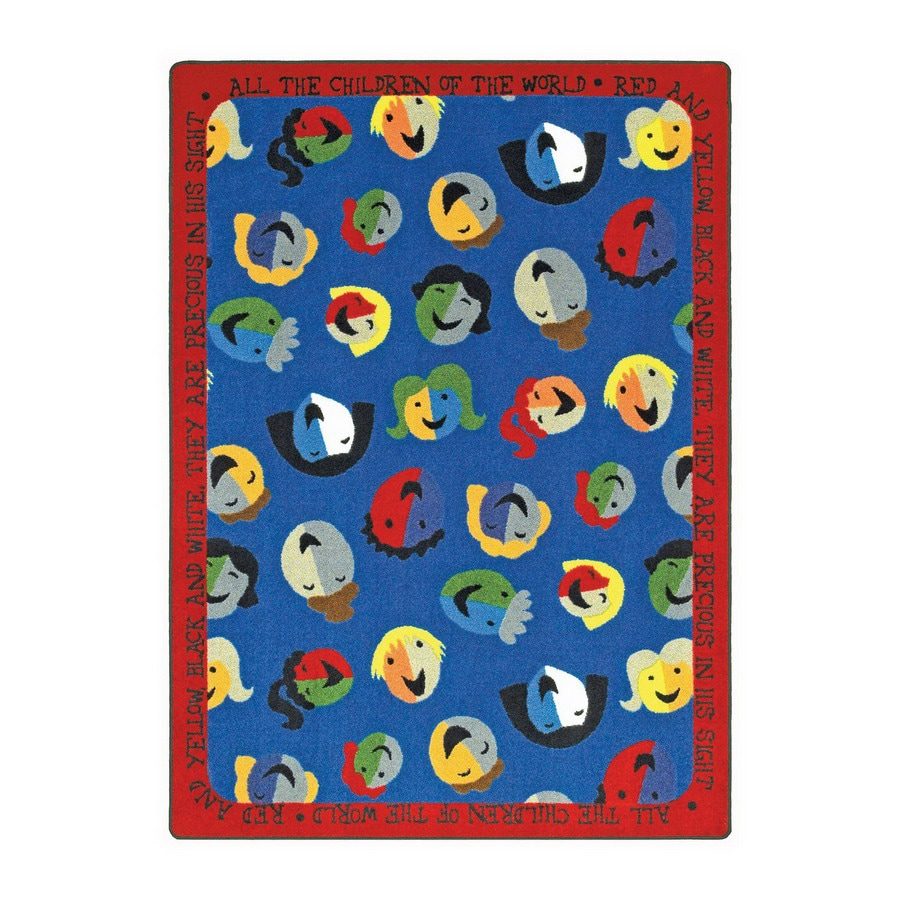Joy Carpets Children Of The World Rectangular Indoor Tufted Kids Area Rug (Common: 5 x 8; Actual: 5.33-ft W x 7.66-ft L)