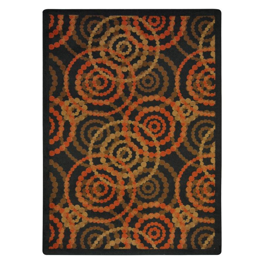 Joy Carpets Dottie Warm Earth Rectangular Indoor Tufted Area Rug (Common: 5 x 8; Actual: 64-in W x 92-in L)