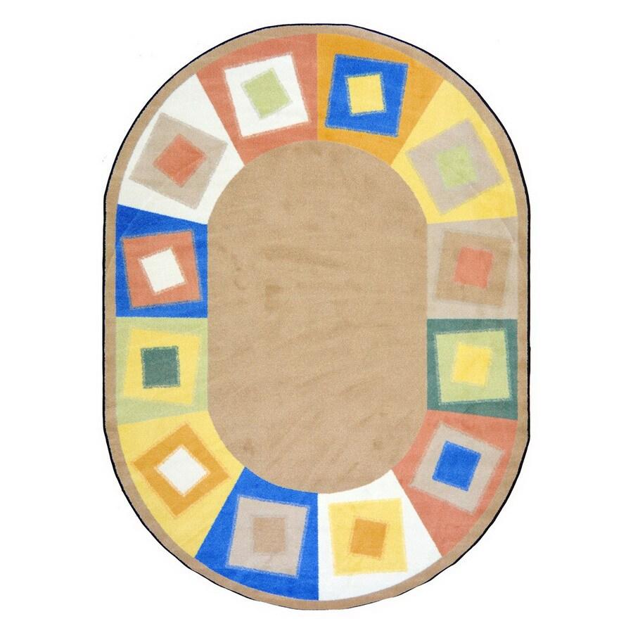 Joy Carpets Off Balance 10-ft 9-in x 7-ft 8-in Rectangular Multicolor Geometric Area Rug