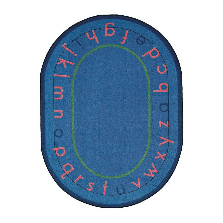 Joy Carpets Montessori Alphabet 10-ft 9-in x 4-ft 8-in Oval Multicolor Educational Area Rug
