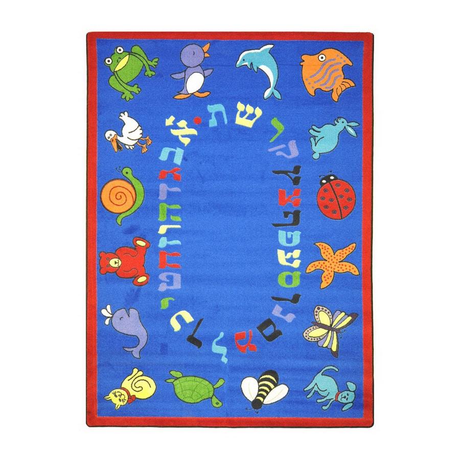 Joy Carpets Abc Animals (Hebrew Alphabet) 10-ft 9-in x 4-ft 8-in Rectangular Multicolor Religious Area Rug