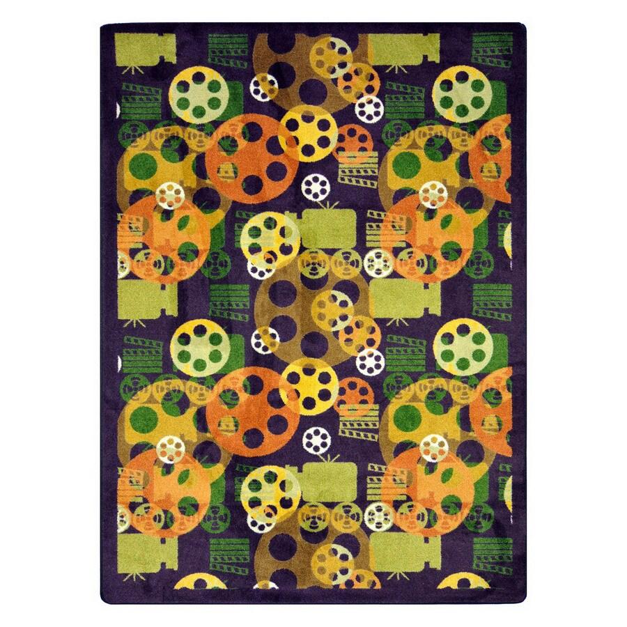 Joy Carpets Blockbuster 13-ft 2-in x 10-ft 9-in Rectangular Multicolor Transitional Area Rug