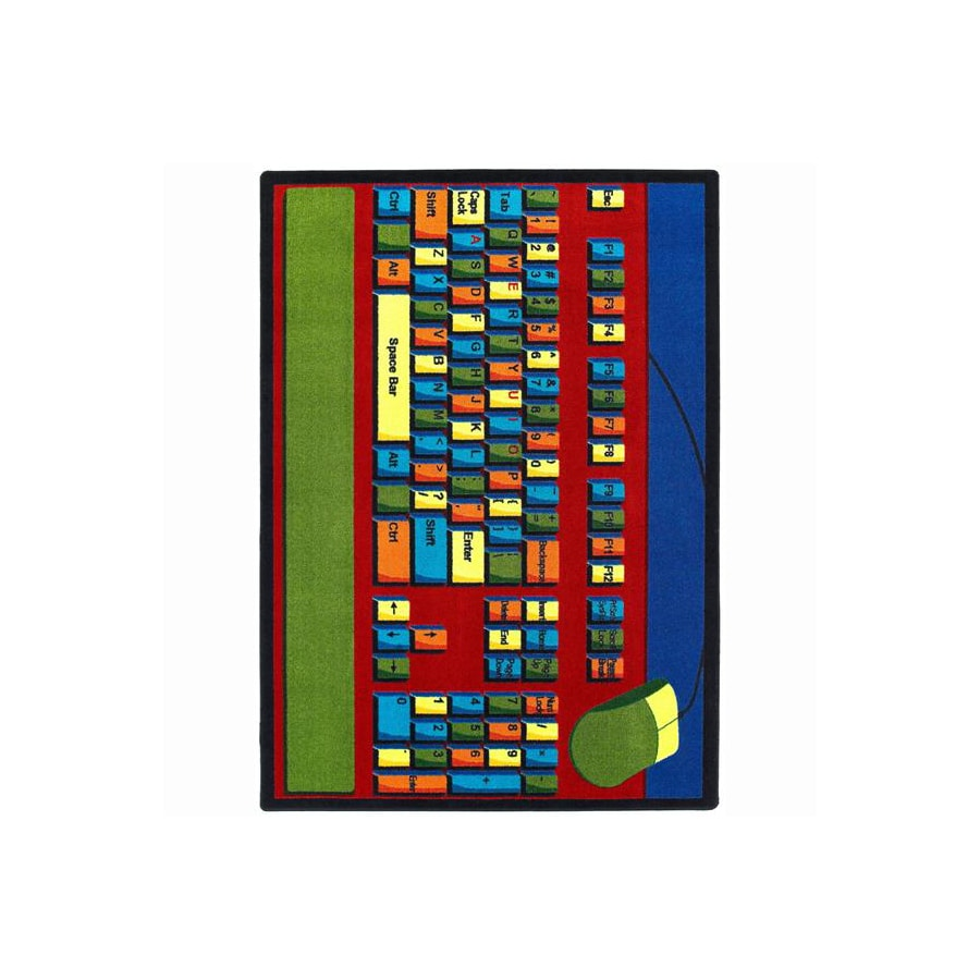 Joy Carpets Keyboard Connection 10-ft 9-in x 7-ft 8-in Oval Multicolor Transitional Area Rug