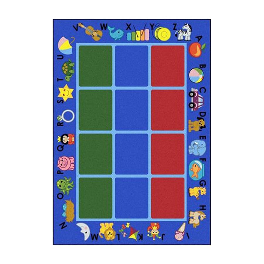 Joy Carpets Alphabet Phonics Rectangular Indoor Tufted Educational Area Rug