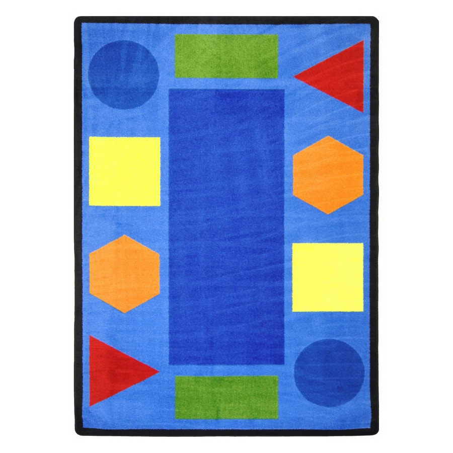 Joy Carpets Sitting Shapes Rectangular Indoor Tufted Educational Area Rug (Common: 8 x 11; Actual: 92-in W x 129-in L)