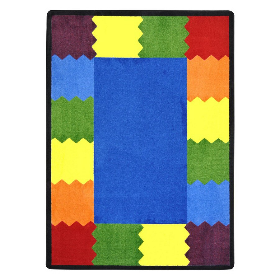 Joy Carpets Block Party 13-ft 2-in x 13-ft 2-in Round Multicolor Geometric Area Rug