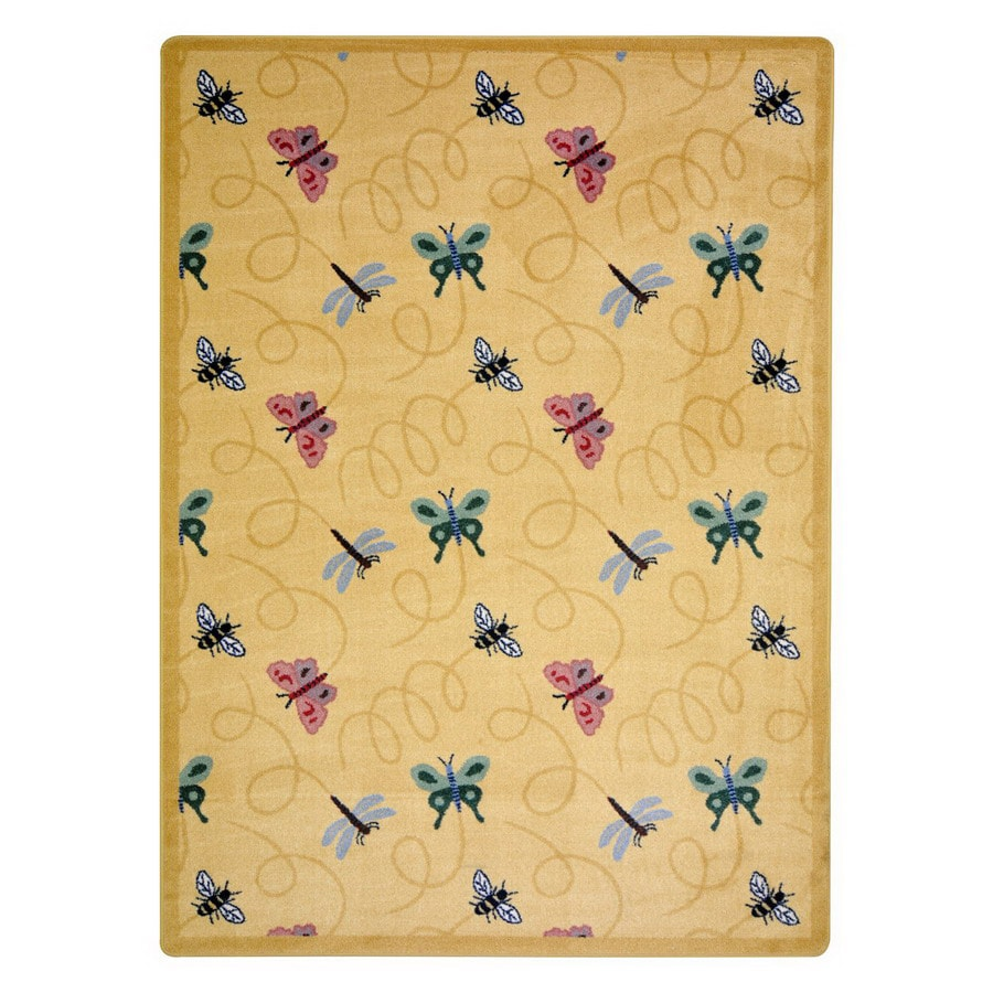 Joy Carpets Wing Dings Rectangular Indoor Tufted Animals Area Rug (Common: 5 x 8; Actual: 5.33-ft W x 7.66-ft L)