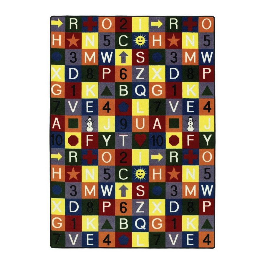 Joy Carpets Edu-Squares Rectangular Indoor Tufted Educational Area Rug (Common: 8 x 11; Actual: 7.66-ft W x 10.75-ft L)