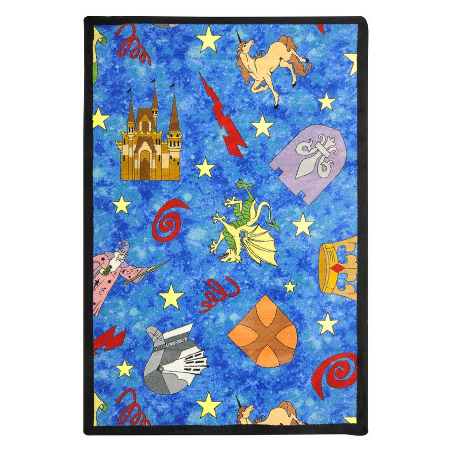 Joy Carpets Mythical Kingdom 10-ft 9-in x 4-ft 8-in Rectangular Multicolor Geometric Area Rug