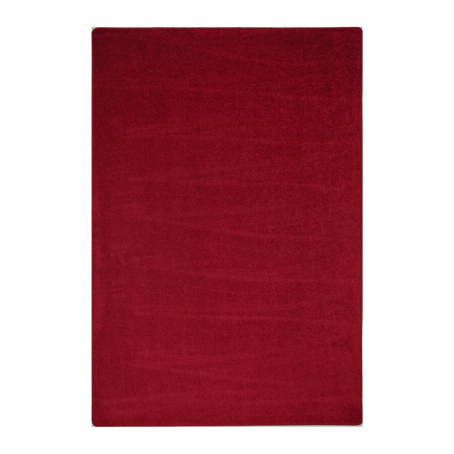 Joy Carpets Endurance Burgundy Square Indoor Tufted Area Rug (Common: 6 x 6; Actual: 6-ft W x 6-ft L)