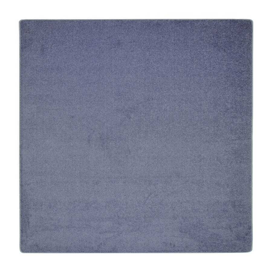 Joy Carpets Endurance Glacier Blue Square Indoor Tufted Area Rug (Common: 6 x 6; Actual: 6-ft W x 6-ft L)
