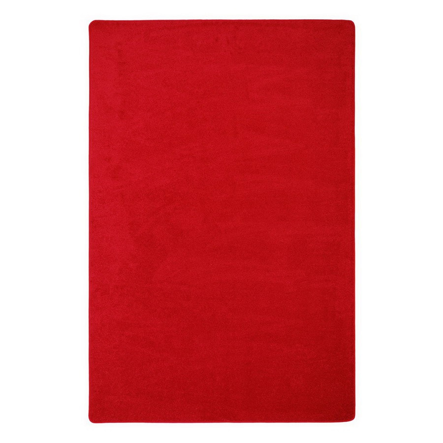 Joy Carpets Endurance Red Square Indoor Tufted Area Rug (Common: 6 x 6; Actual: 72-in W x 72-in L)