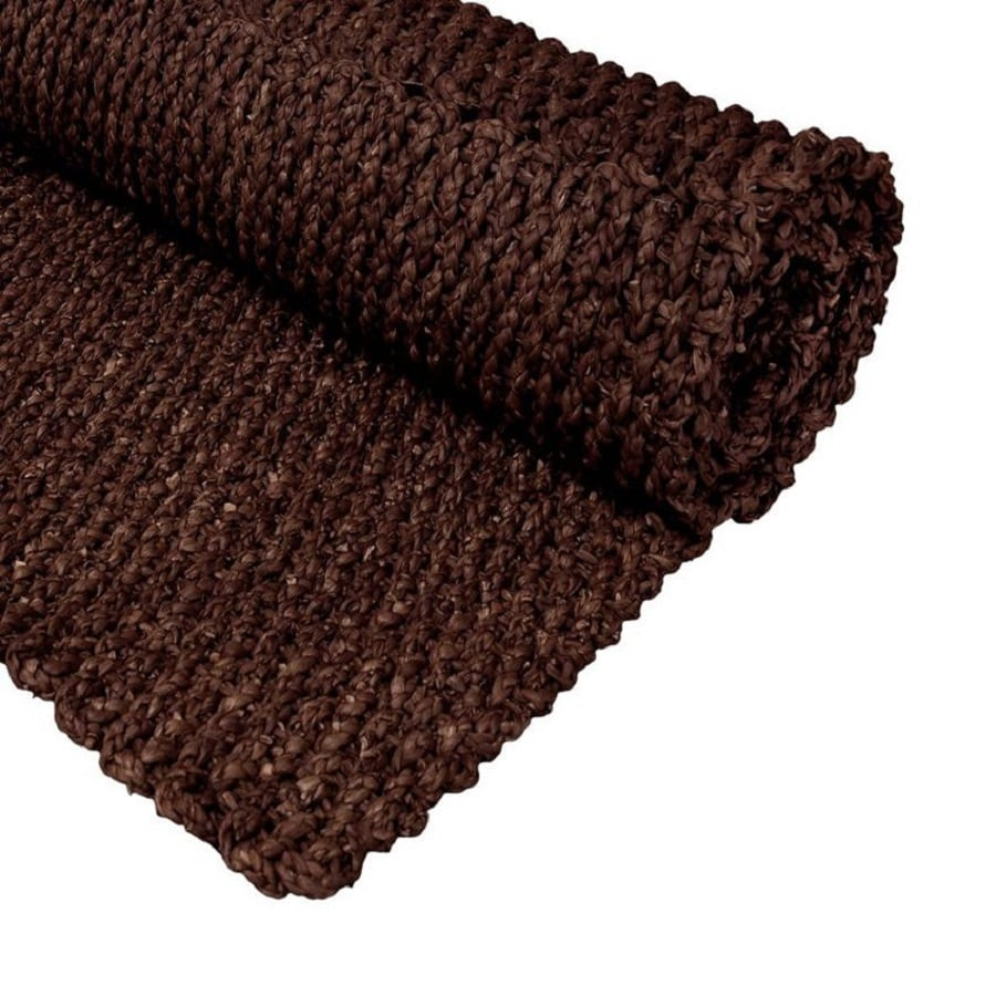 Oriental Furniture Fiber Weave Dark Brown Rectangular Indoor Woven Throw Rug (Common: 2 x 3; Actual: 2-ft W x 3-ft L)