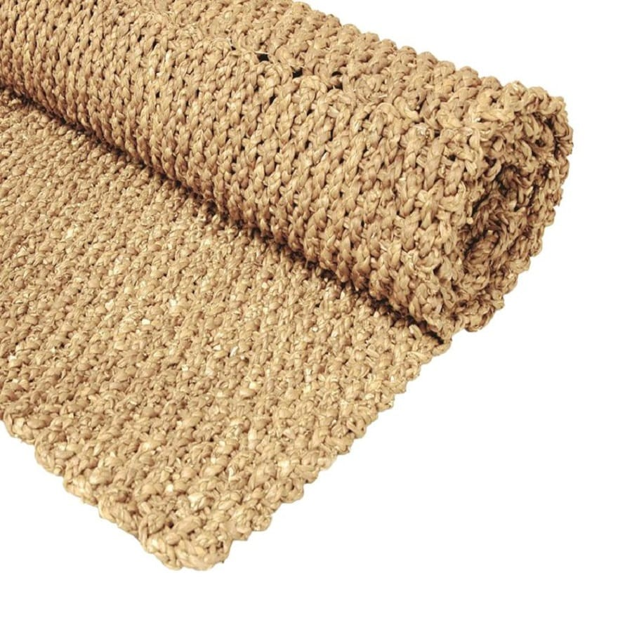 Oriental Furniture Fiber Weave Natural Rectangular Indoor Woven Area Rug (Common: 5 x 8; Actual: 5-ft W x 8-ft L)
