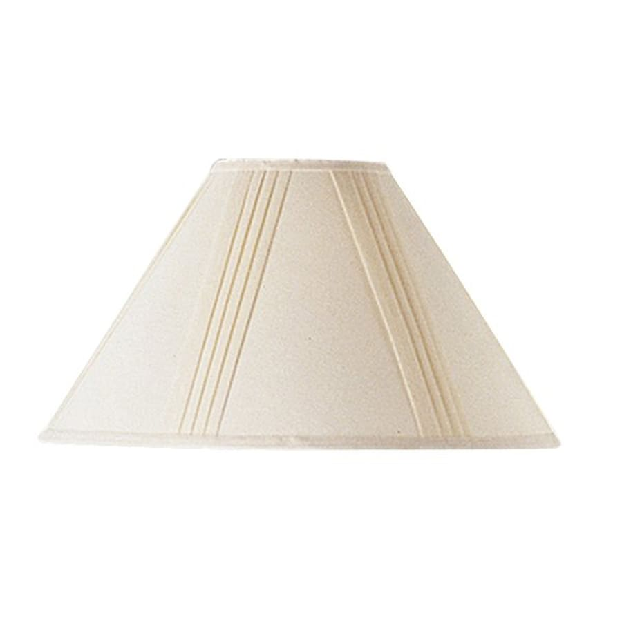 Cal Lighting 12-in x 19-in Off White Fabric Cone Lamp Shade
