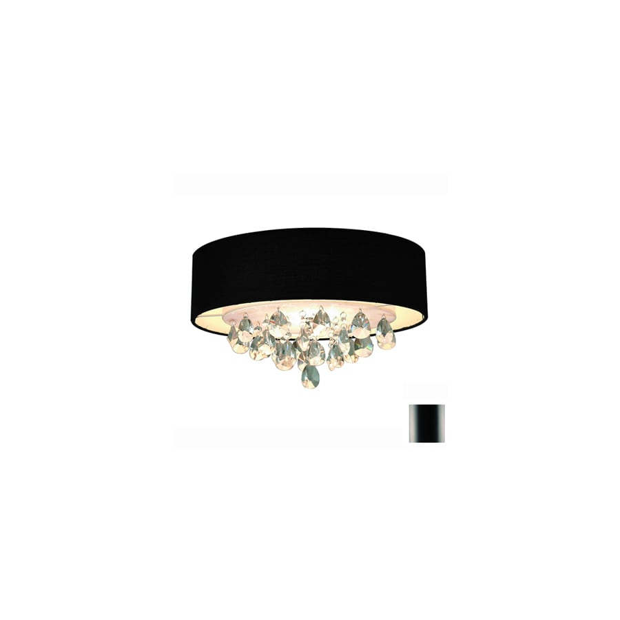 Gen-Lite 15-in W Crystal Accent Ceiling Flush Mount