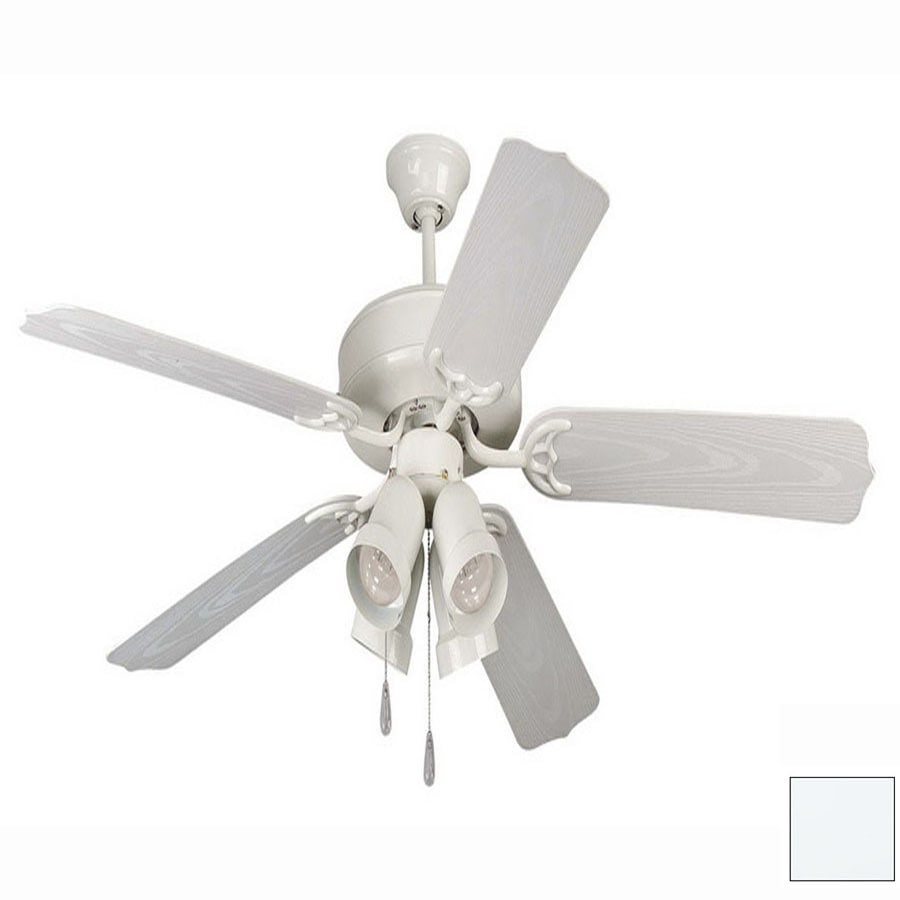 Shop yosemite home decor 52 in sharon white outdoor ceiling fan with light kit at Home decorations light kit