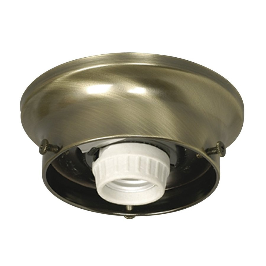 Galaxy 4.875-in W Antique Brass Flush Mount Light