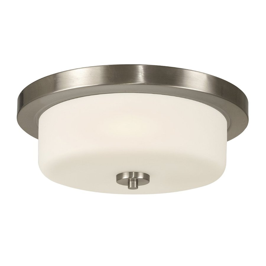 Galaxy Danton 14.5-in W Brushed Nickel Ceiling Flush Mount Light