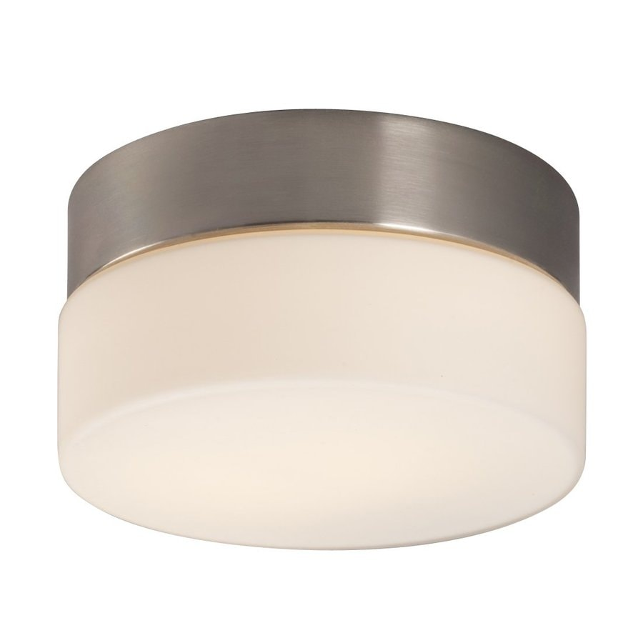 Galaxy 6-in W Brushed Nickel Flush Mount Light
