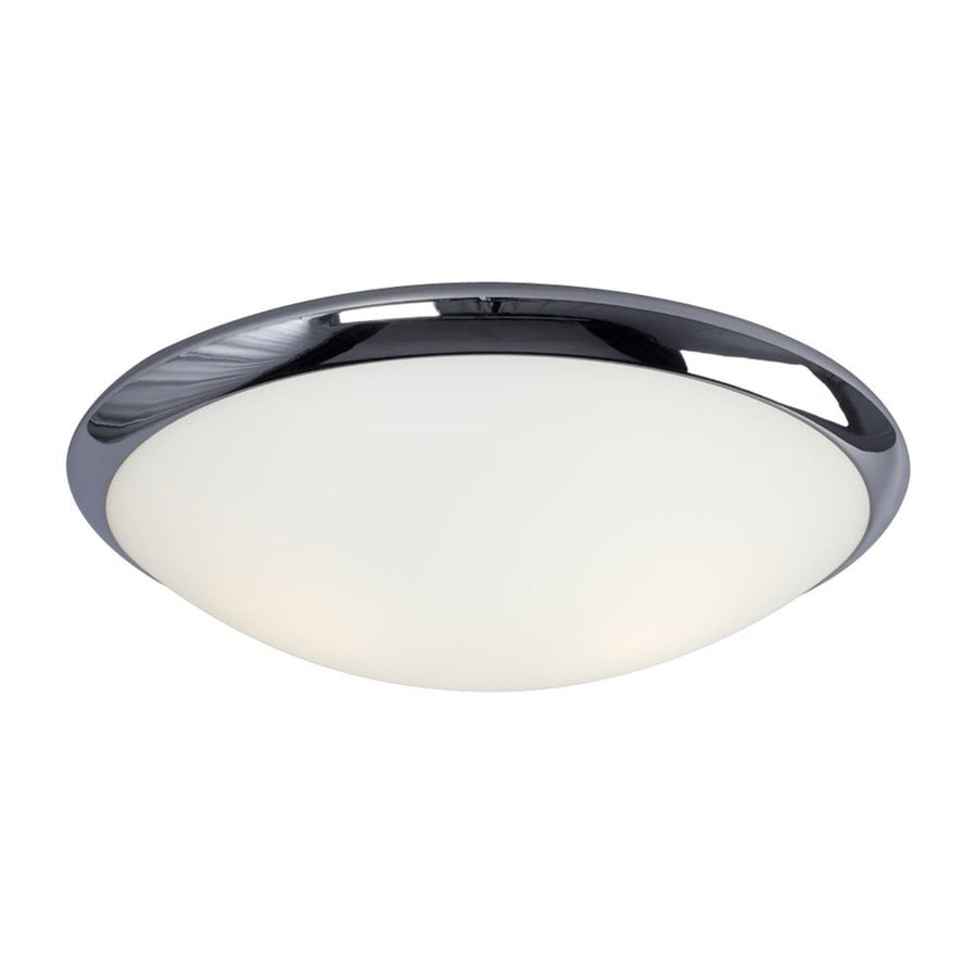 Galaxy 15.25-in W Chrome Ceiling Flush Mount Light