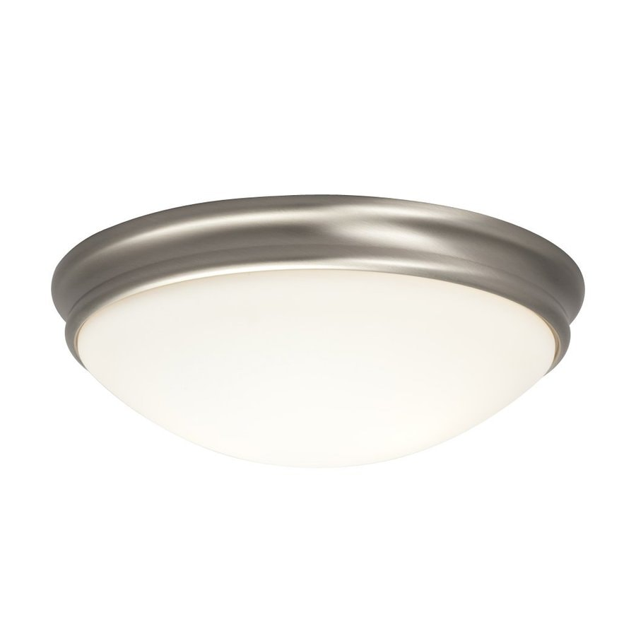 Galaxy 12.375-in W Brushed Nickel Ceiling Flush Mount Light