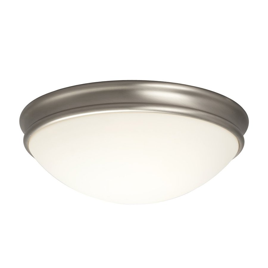 Galaxy 14-in W Brushed Nickel Flush Mount Light