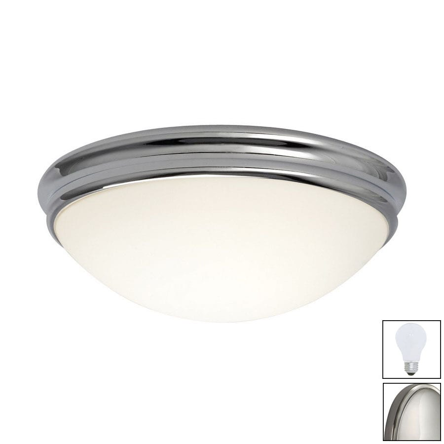 Galaxy 14-in W Chrome Ceiling Flush Mount