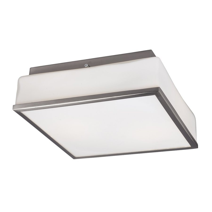 Galaxy 11.125-in W Brushed Nickel Ceiling Flush Mount Light