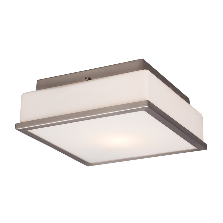 Galaxy 8.5-in W Brushed Nickel Flush Mount Light