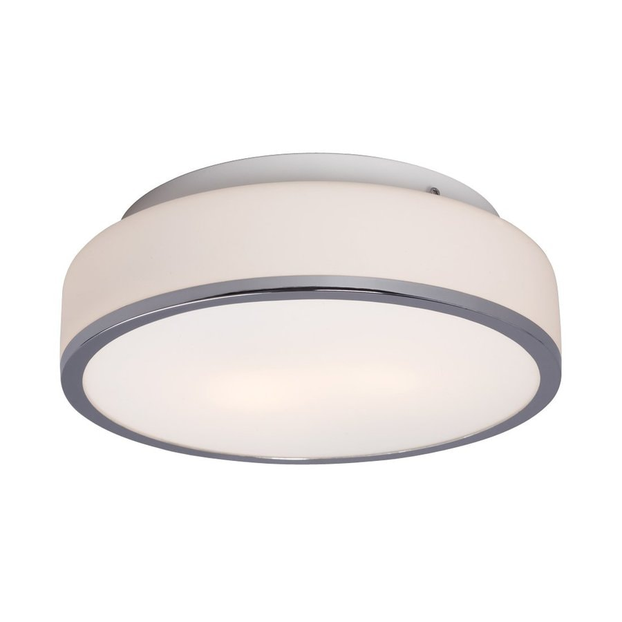 Galaxy 11.625-in W Chrome Flush Mount Light
