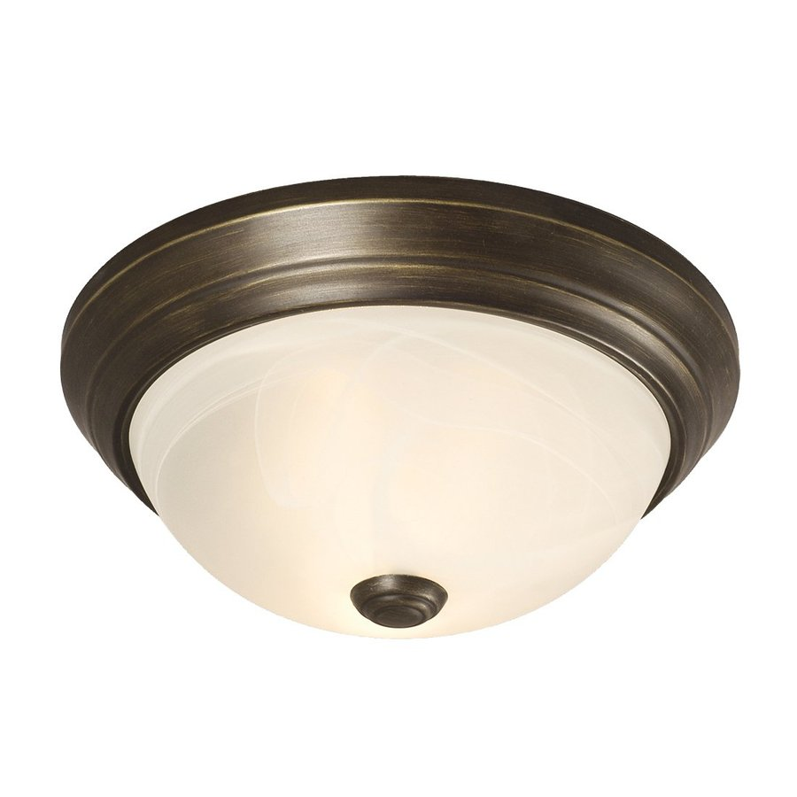 Galaxy 11.125-in W Oil-Rubbed Bronze Ceiling Flush Mount Light