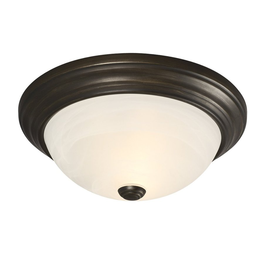 Galaxy 13.125-in W Oil-Rubbed Bronze Ceiling Flush Mount Light