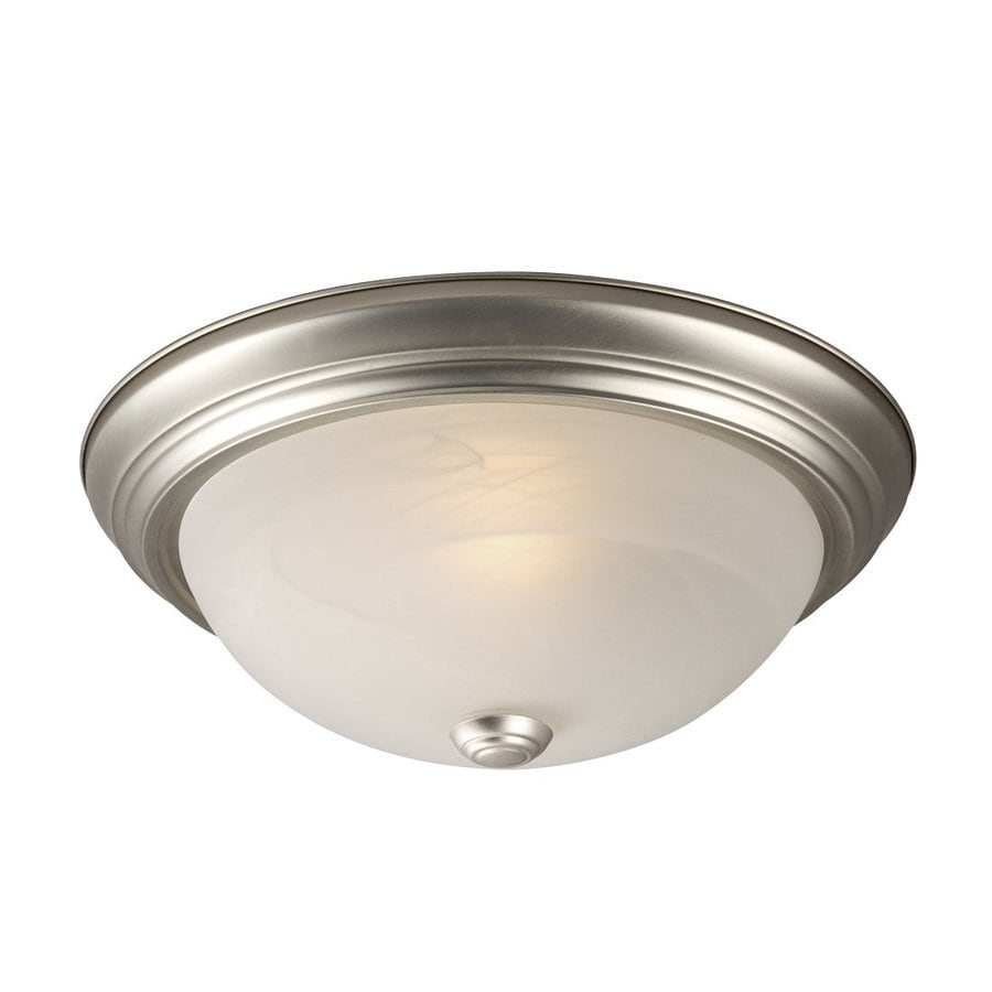 Galaxy 13.125-in W Pewter Ceiling Flush Mount Light