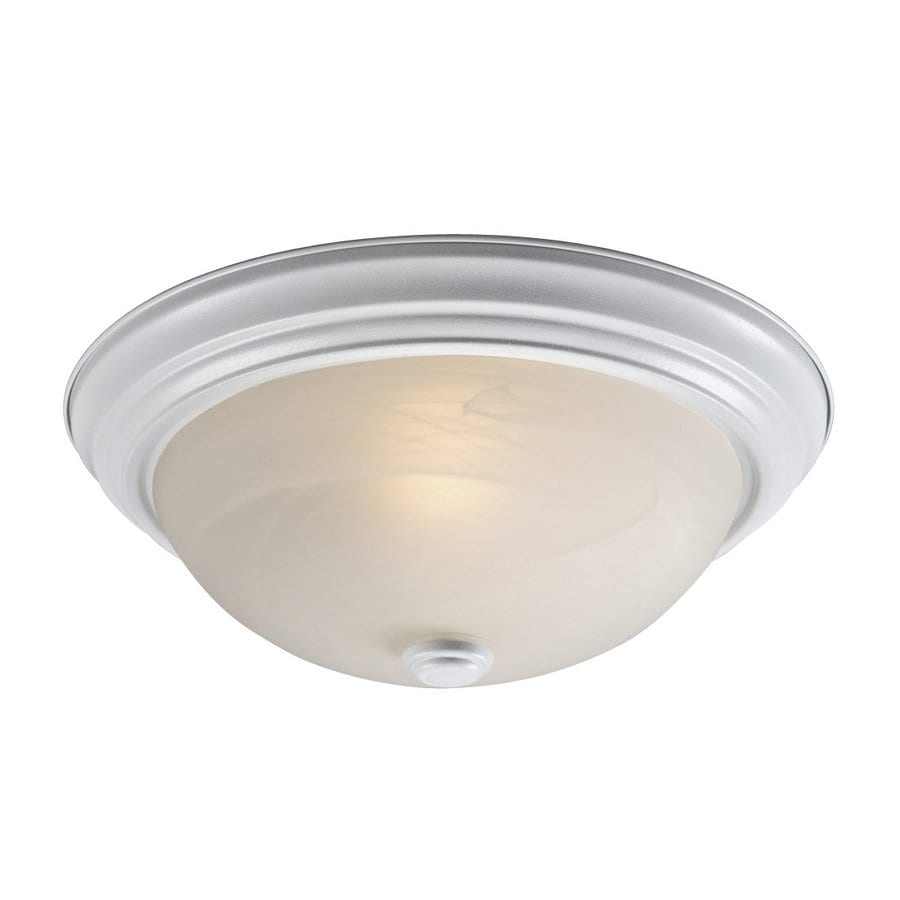 Galaxy 13.125-in W White Ceiling Flush Mount